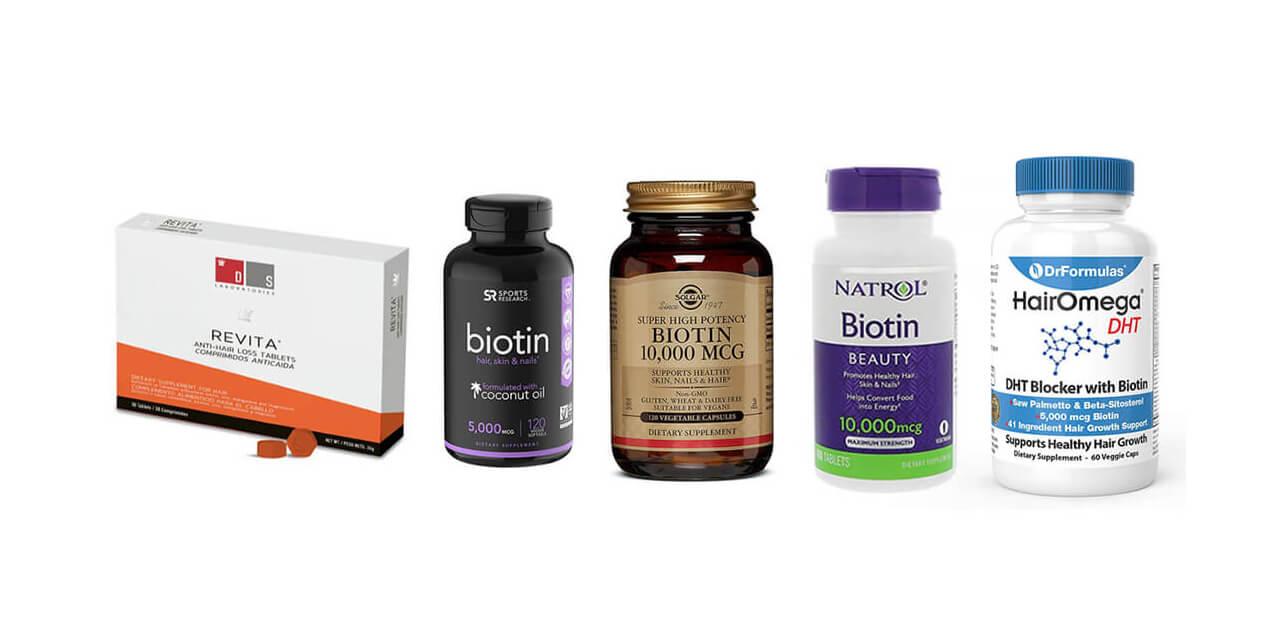 Biotin bottles